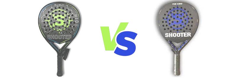 Diferencias entre las palas de pádel SHOOTER PADEL Elysium y THE KING