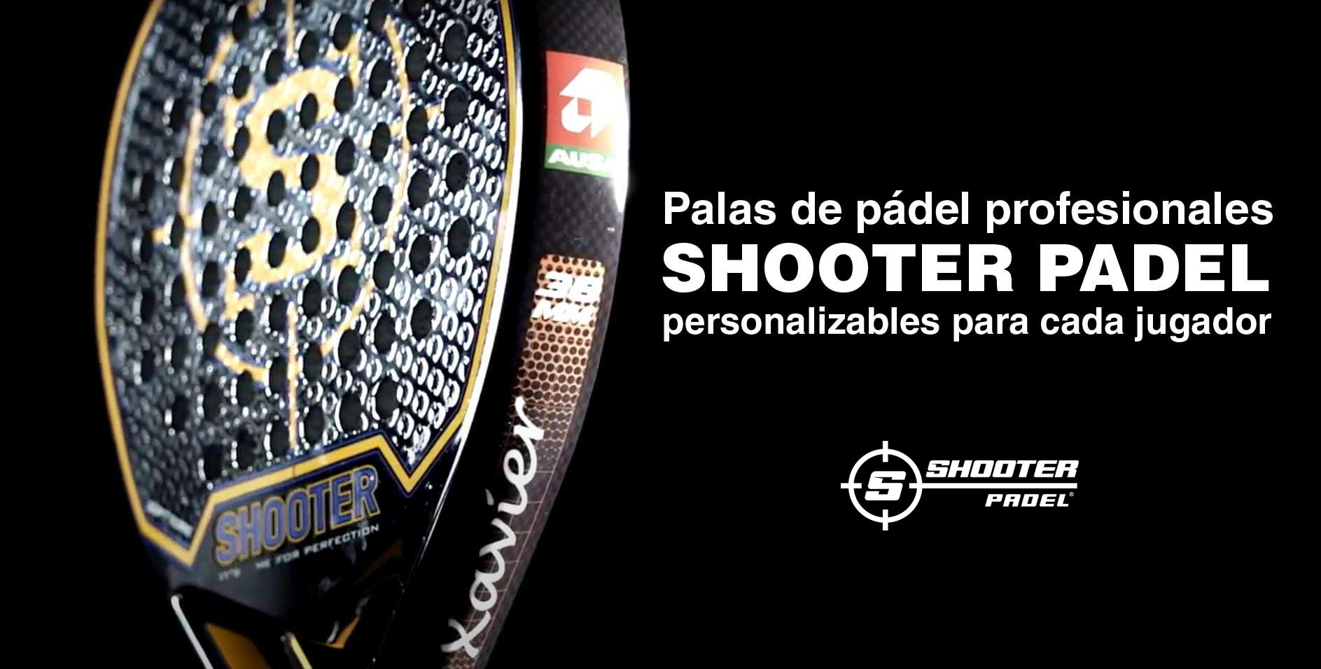 Palas de pádel personalizables con nombre SHOOTER PADEL